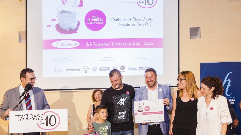 """""""Corderico del Cinca Medio glaseado con Coca-Cola"""", del Hostal el Portal de Alcolea de Cinca, mejor tapa de la provincia de Huesca"""