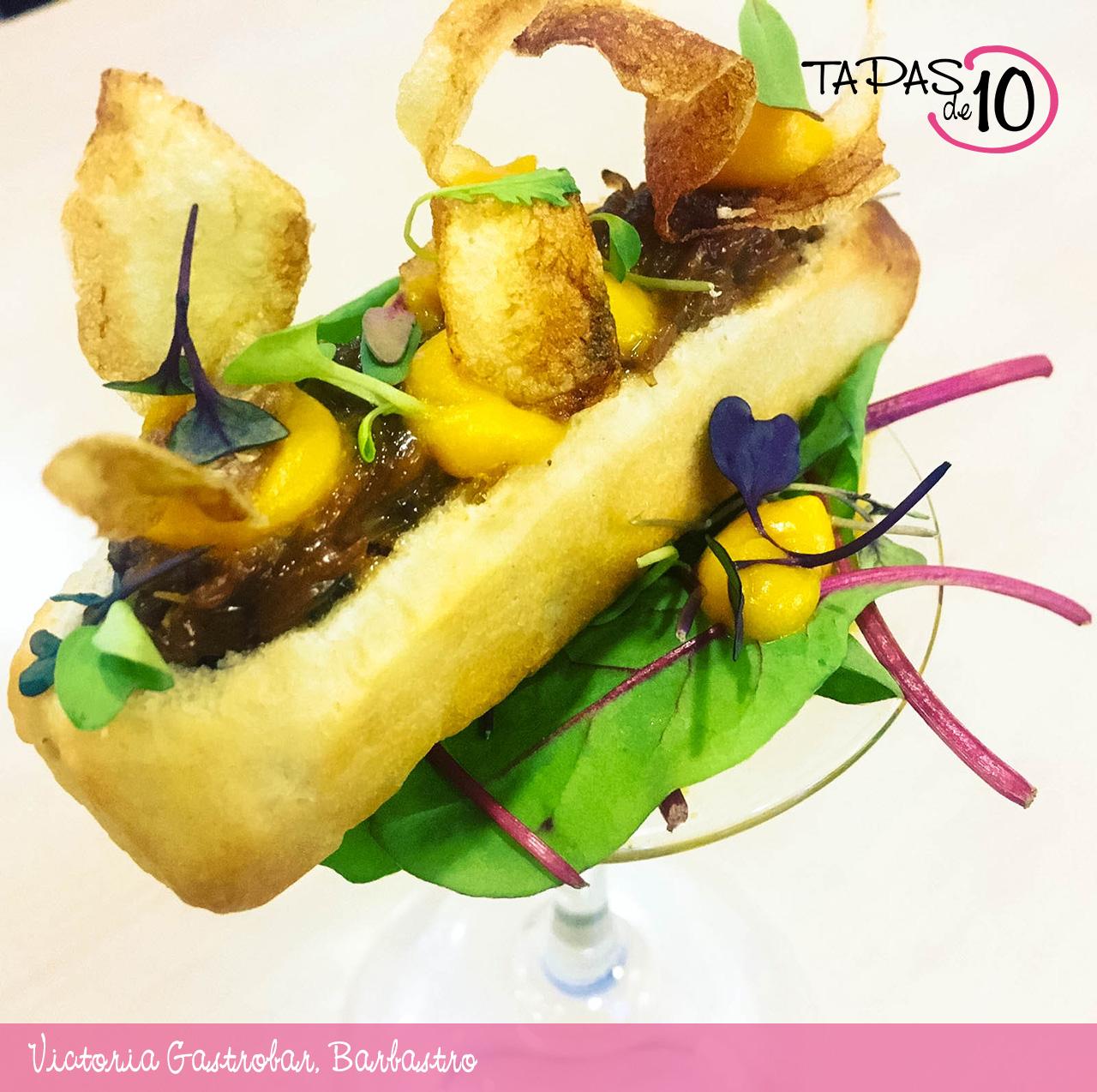 El Hot Dog de Ternasco del Victoria Gastrobar, mejor tapa del Somontano