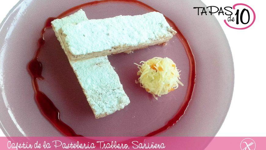 El Ruso al foie con reducción de Pedro Ximénez, del Cafetín de la Pastelería Trallero de Sariñena, la mejor Tapa de los Monegros