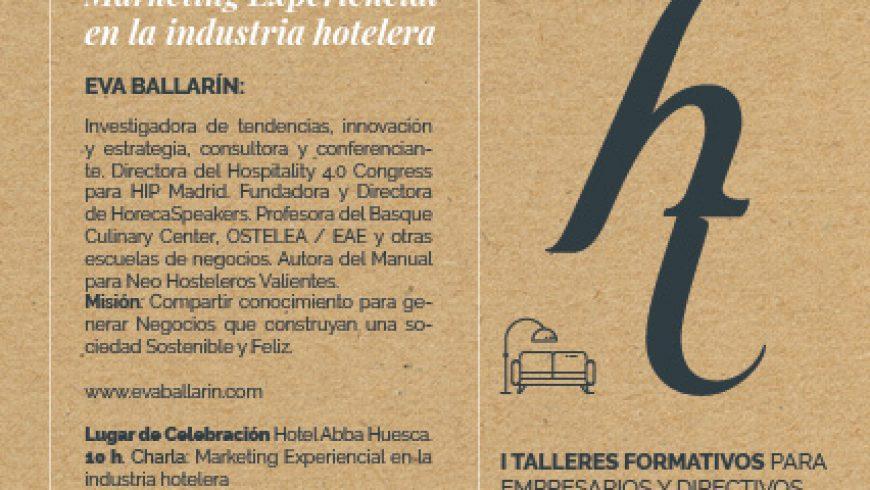 """Primera edición de los """"Talleres formativos para empresarios y directivos del Sector Hotelero y extra-hotelero en la provincia de Huesca""""."""