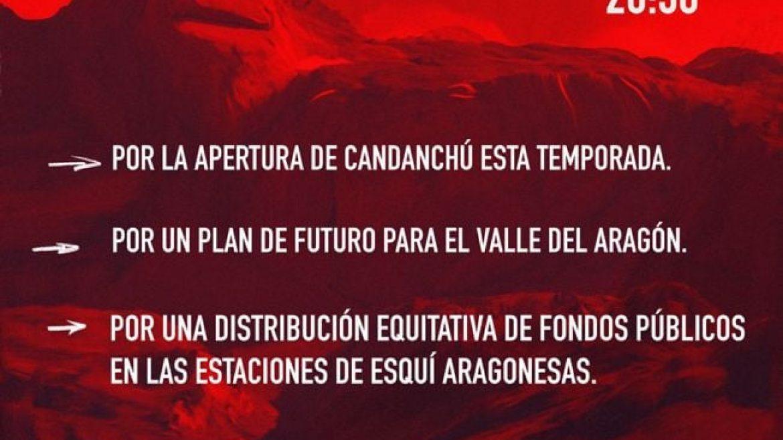 Manifestación por el futuro del Candanchú